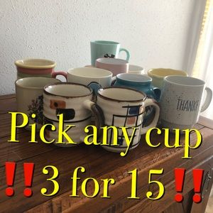 ‼️Pick any cup 3 for $15 special!‼️